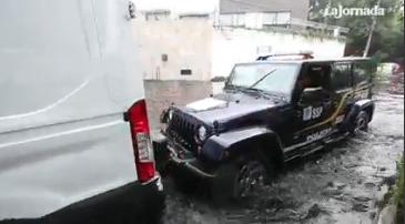 CDMX: Lluvias provocan inundaciones y encharcamientos (La Jornada)