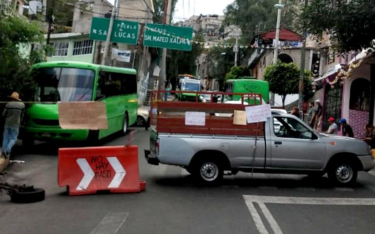 CDMX: protestan vecinos por falta de agua en Xochimilco (La Prensa)