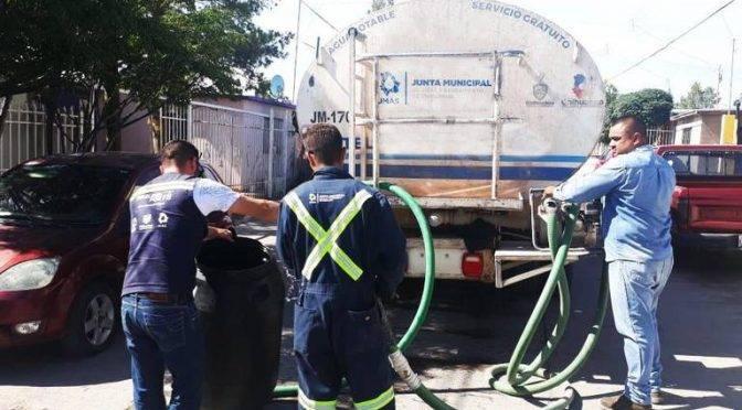 Chihuahua: Surten agua en pipa a 500 casas, dispone JMAS de 35 pipas (El Heraldo de Chihuahua)