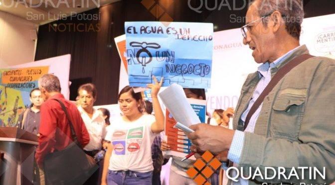 San Luis Potosí: Activista teme simulación en foro de agua (Quadratín)