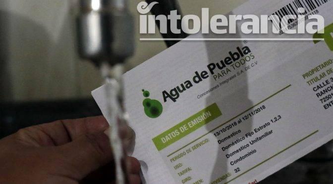 Puebla: Por ley, Agua de Puebla dejará de cortar el suministro (Intolerancia)