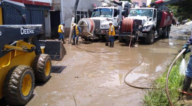 Puebla: sustituyen línea de conducción de agua potable arrastrada por la lluvia (Milenio)