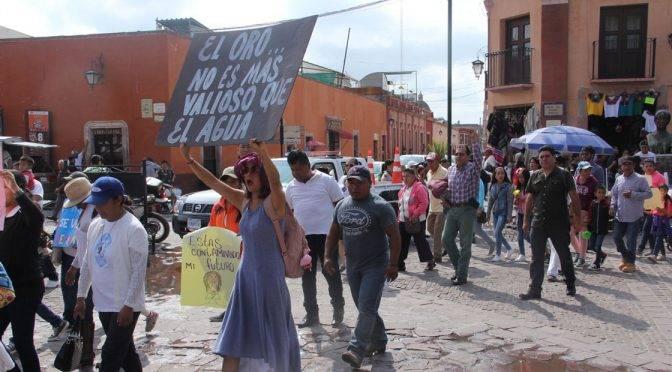 Guanajuato: Marchan contra la explotación minera del Cerro del Gallo (Periódico correo)