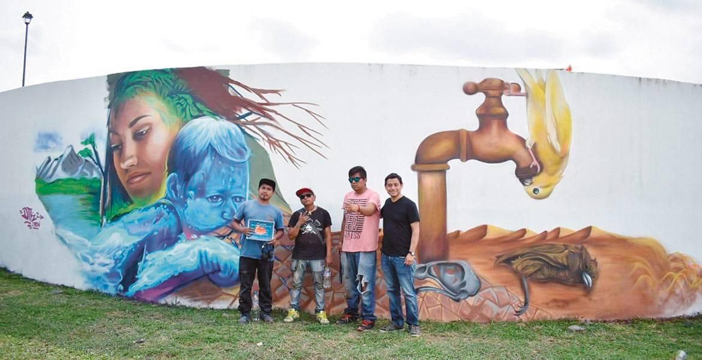 Morelos: Promueve Jiutepec cultura de cuidado del agua con murales en La Gachupina (Diario de Morelos)