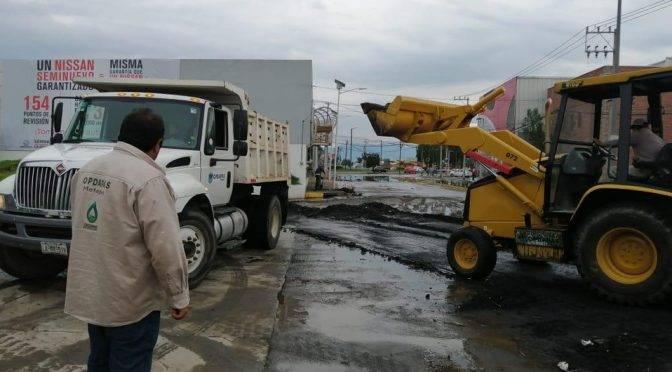 Toluca: Metepec atiende encharcamientos viales (MILENIO)