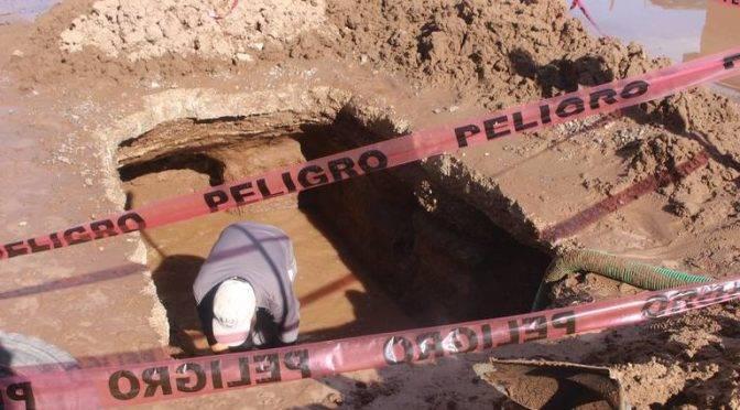 Chihuahua: Reparan otra fuga de agua (El Mexicano)