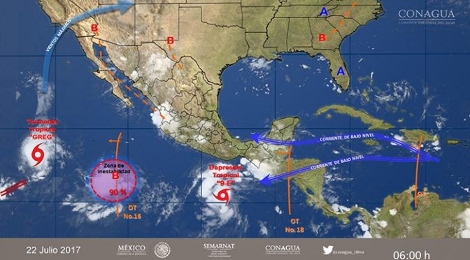 México: Onda tropical 33 provocará lluvias en 26 regiones (Global Media)