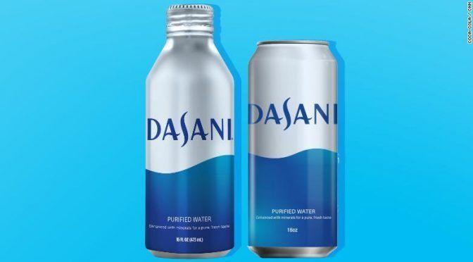EE.UU: Coca-Cola venderá agua Dasani en latas y botellas de aluminio (CNN)