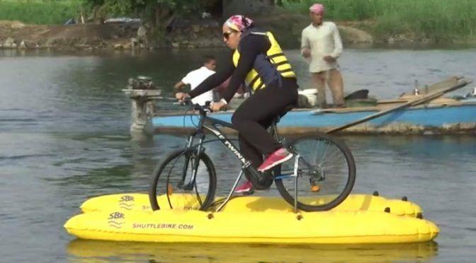 Egipto: Crean bicicleta que puede correr por el agua (Uno TV)