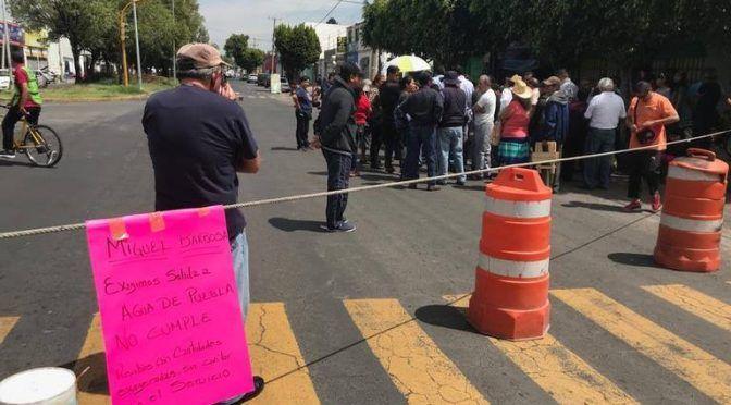 Puebla: Exigen a Agua de Puebla cumplir con suministro en Hueyotlipan (El Sol de Puebla)