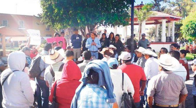 Hidalgo: Protestan por dotación de agua condicionada (El Sol de Hidalgo)