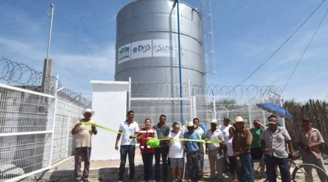 Durango: Entrega MLGA 3 megatanques para uso de agua (El Sol de Durango)