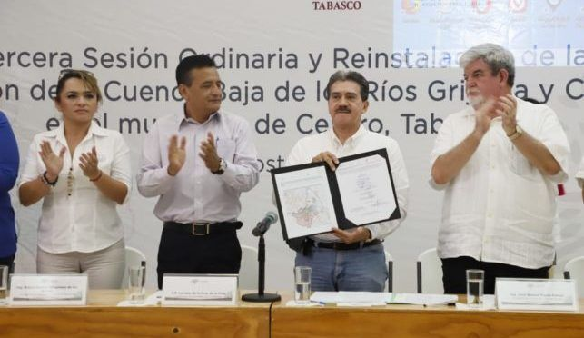 Tabasco: Reinstalan Comisión de la Cuenca Baja (Diario de Tabasco)