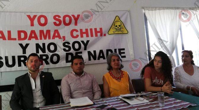 """Chihuahua: """"No al basurero de residuos peligrosos"""" se manifiestan ciudadanos de Aldama (omnia)"""