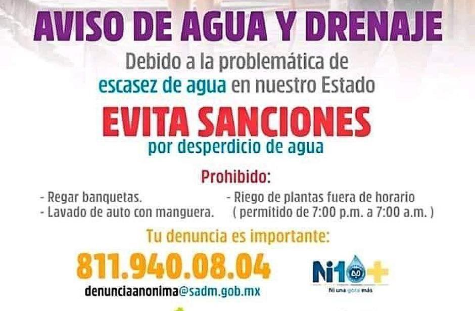 Monterrey: Sancionará Agua y Drenaje por desperdiciar agua (ABC)