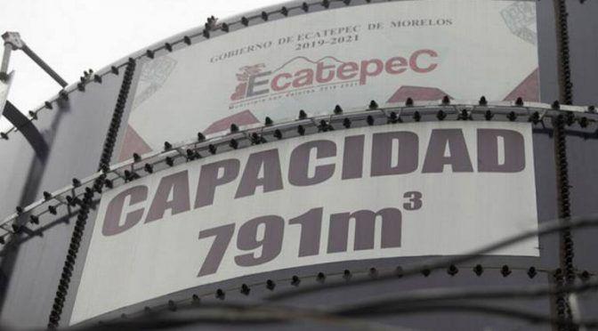 Estado de México: Construyen tanque de agua de 800 mil litros para abastecer zonas altas de Ecatepec (La Prensa)