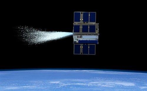Un cubeSat impulsado por agua comanda a otro en órbita (europa press)