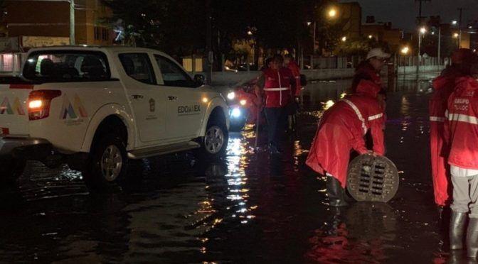 Lluvias provocan encharcamientos e inundaciones en Valle de México (Noticiero Televisa)