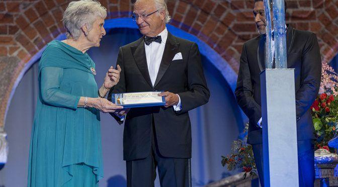 Estocolmo: Premio del agua otorgado al Dr. Jackie King (SIWI)