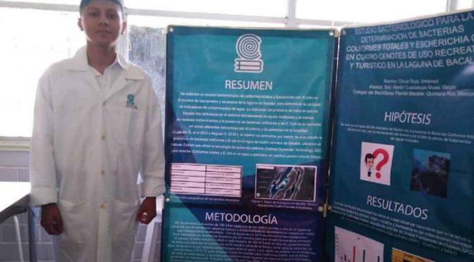 Quintana Roo: Alumno de Bacalar destaca en concurso de ciencia y tecnología (SIPSE)