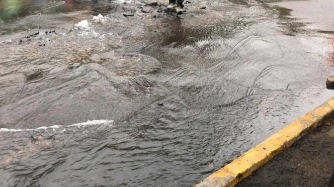 Ciudad de México: Sin atender, gran fuga de agua en la A. Obregón (Excelsior)
