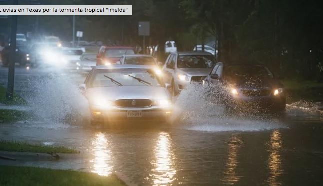 """Houston: Prevén fuertes lluvias e inundaciones por tormenta """"Imelda"""" en Texas (El Universal)"""