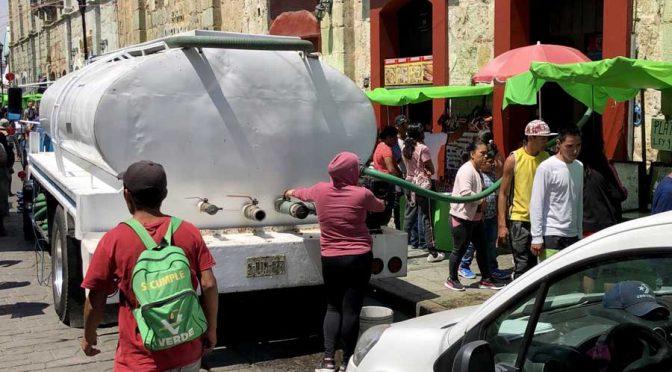 El Centro Histórico de Oaxaca se queda sin agua potable (El Imparcial)