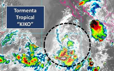 Baja California Sur: Se acerca tormenta tropical Kiko (Ojo Central)