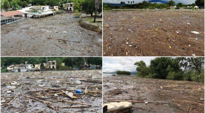 Nuevo León: Se 'inunda' de desechos presa la boca (Reporte Indigo)