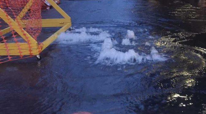 CDMX: Fuga de agua inunda avenida Chapultepec (Milenio)