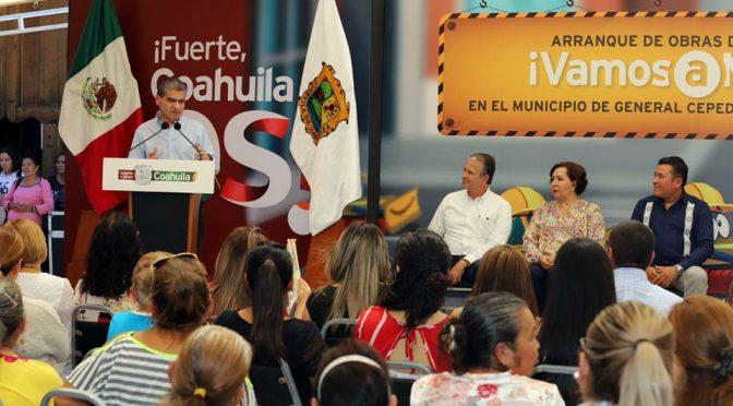 Coahuila: Gobernador arranca obra de agua potable en General Cepeda (Milenio)