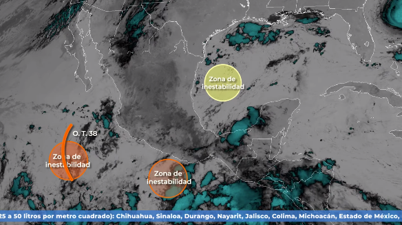CDMX: Prevén fuertes lluvias en varios estados del país (La Jornada)