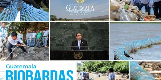 """Naciones Unidas: La """"biobarda"""" la solución artesanal guatemalteca contra la contaminación ríos llega a la ONU (EFE verde)"""