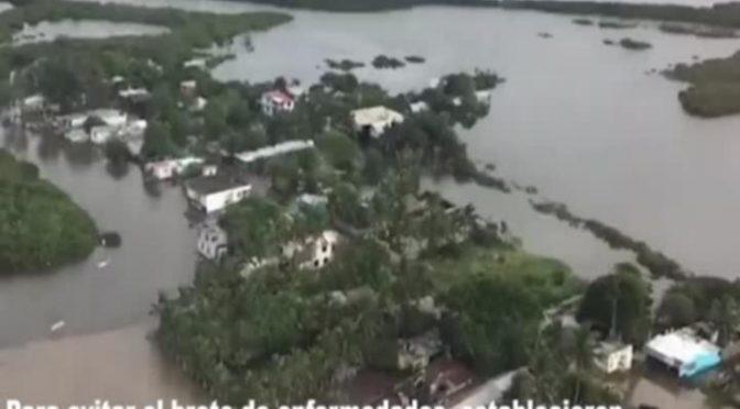 Tamaulipas: Tras inundaciones, mantienen cerco sanitario (La jornada)