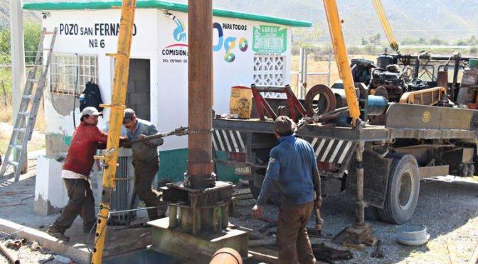 Durango: Invertirán 10 mdp en obras de pozos de agua (El Siglo de Durango)