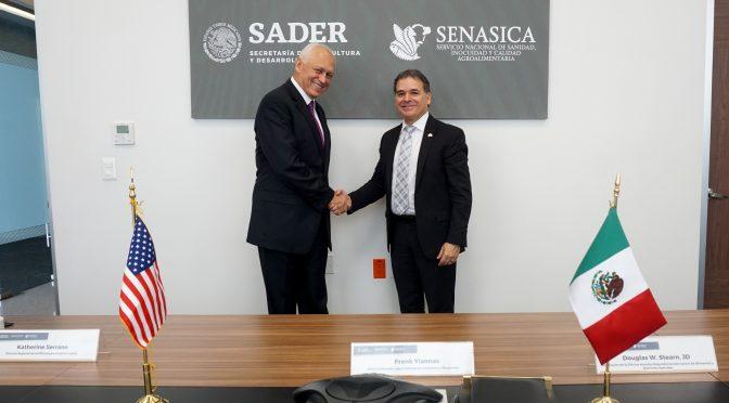 Acuerdan México y Estados Unidos cooperación técnica para fortalecer la inocuidad alimentaria (Gobierno de México)