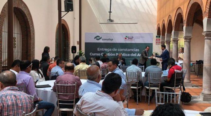 """San Luis Potosí: Imparte Conalep diplomado en  """"Gestion publica del agua"""" (Código de San Luis)"""