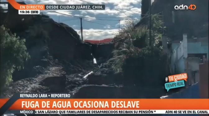 Chihuahua: Hombre intenta robarse el agua potable y ocasiona deslave de un cerro (ADN 40)