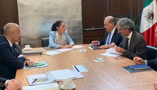 CDMX: Sheinbaum se reúne con Carlos Slim y titular de la Conagua (El Universal)