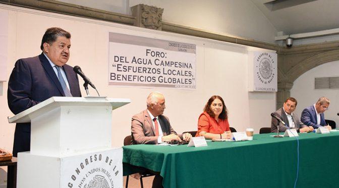 """CDMX: Realizan en el Congreso local el foro """"Del agua campesina. Esfuerzos locales, beneficios globales"""" (Congreso cdmx)"""
