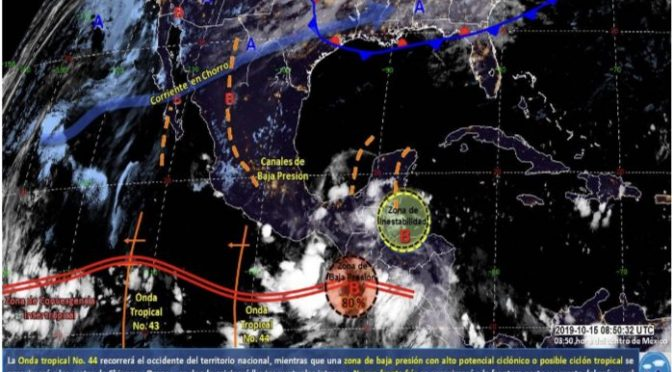 Intensas lluvias para Oaxaca y Veracruz informó CONAGUA (Calor Noticias)