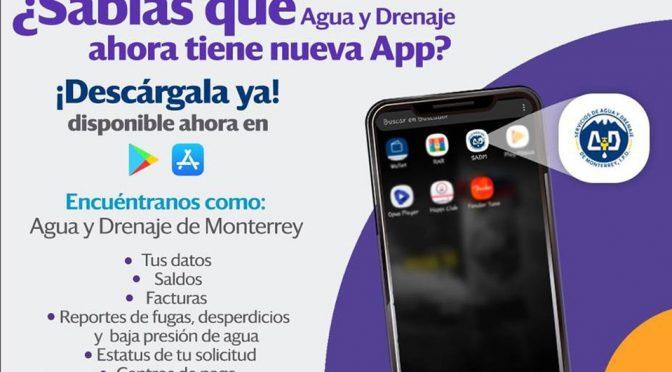 Monterrey: Agua y drenaje presenta su nueva app (Milenio)