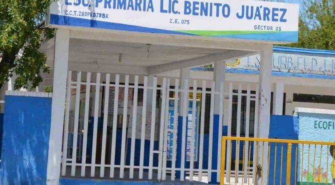 Tamaulipas: Sufren escuelas por falta de agua (El mañana)