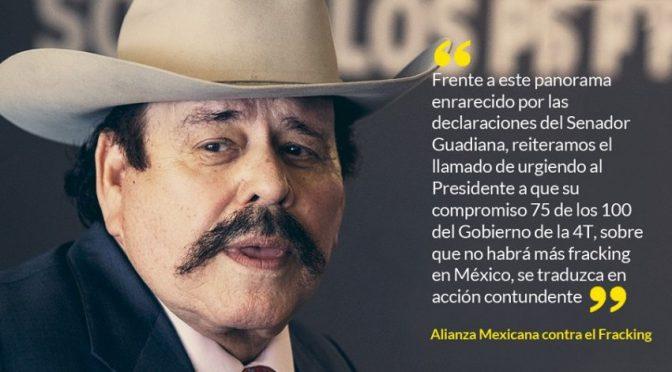 México: Más de 40 ONGs alertan: Guadiana, empresario y Senador de Morena, busca avalar fracking sin debate (Periódico central)