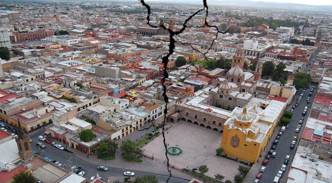San Luis Potosí en riesgo de hundimientos por sobreexplotación del agua el subsuelo (El Universal)