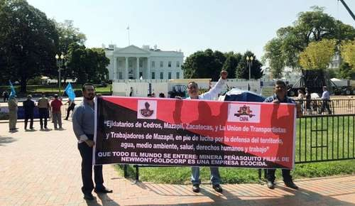Washington: Protestan frente a la Casa Blanca contra Peñasquito (La Jornada9