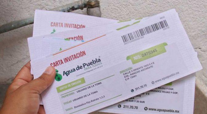 Puebla: Usuarios podrán impugnar cobros excesivos de agua potable (El Popular)