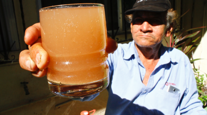 Asusta Centro con agua sucia (Tabasco Hoy)