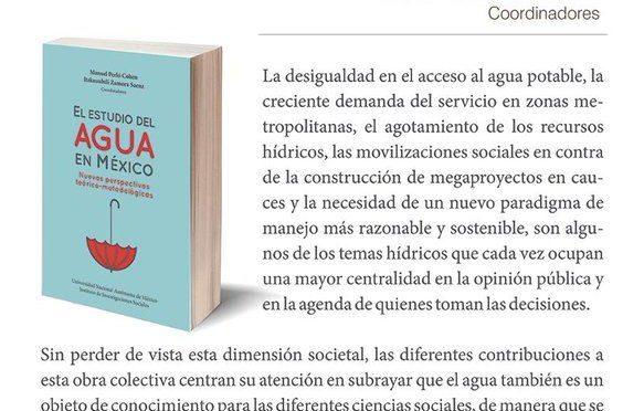 """Presentación del libro: """"El estudio del agua en México"""""""