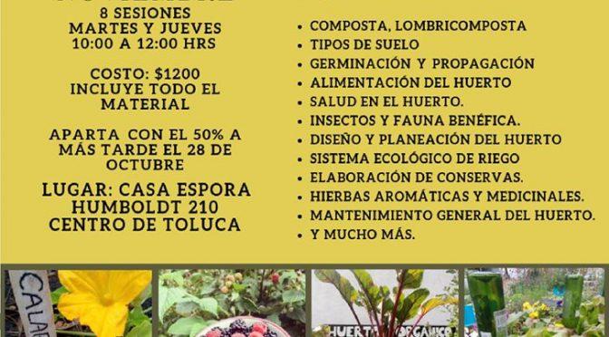 "Taller intensivo ""Huerto Casero Agroecológico"""